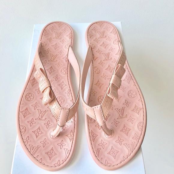 f76baba4f2d0b LOUIS VUITTON Monogram Flip Flops Sandals